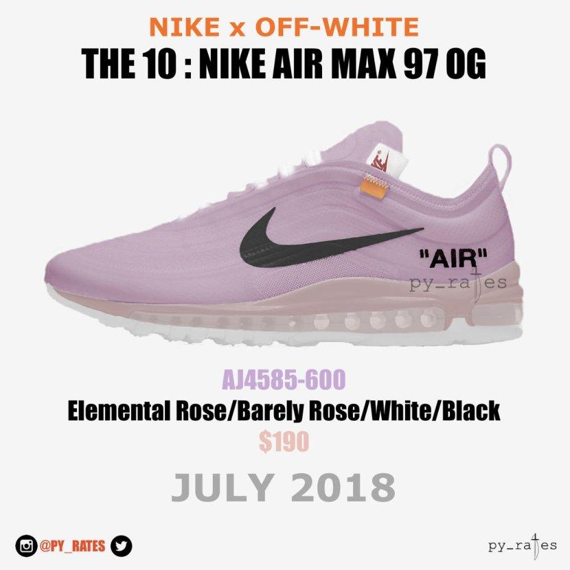 Svelata una nuova colorway delle Nike Air Max 97 xOFF-WHITE
