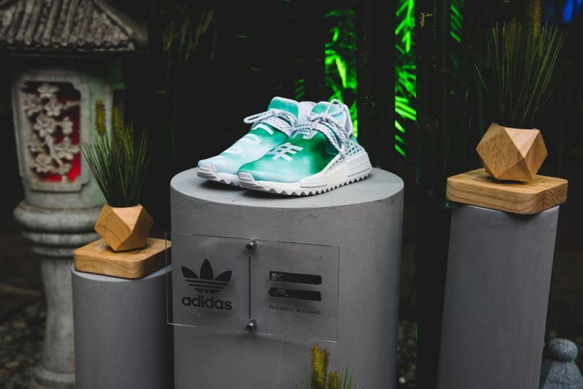 Pharrell mostra il pack esclusivo di Adidas NMD Human Race in arrivo inCina