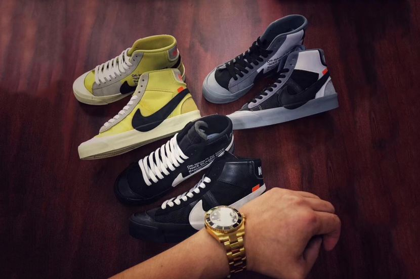 VIRGIL ABLOH x NIKE BLAZER, nuove colorways
