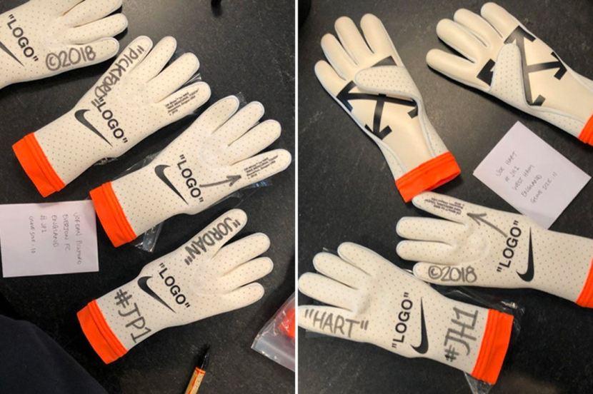 Virgil Abloh mostra i suoi guanti da portiere customizzati in collaborazione conNike