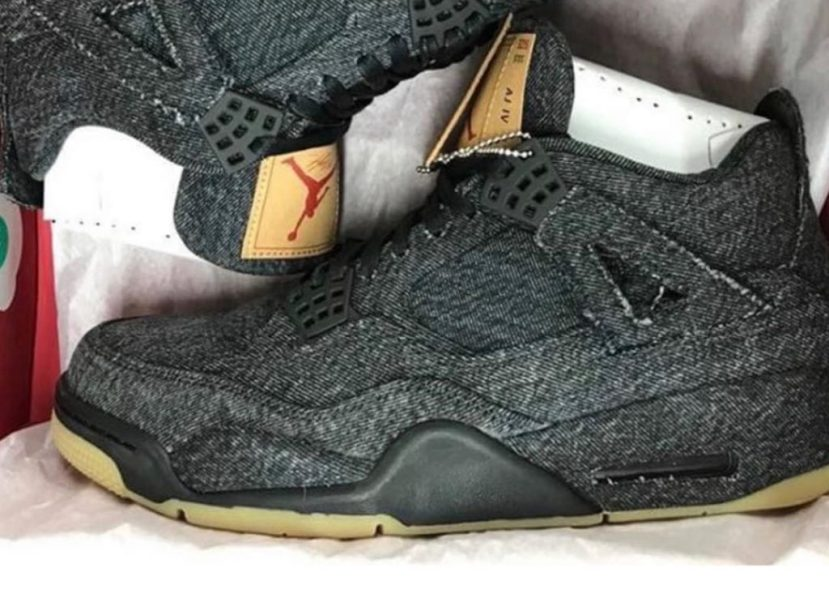 "First Look delle Air Jordan 4 x Levi's ""Black"""