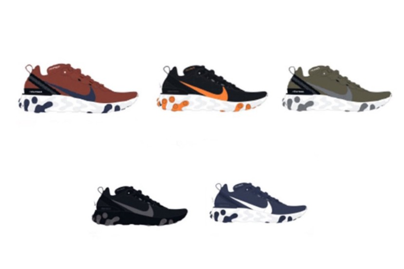 NIKE REACT ELEMENT 55, nuovecolorways