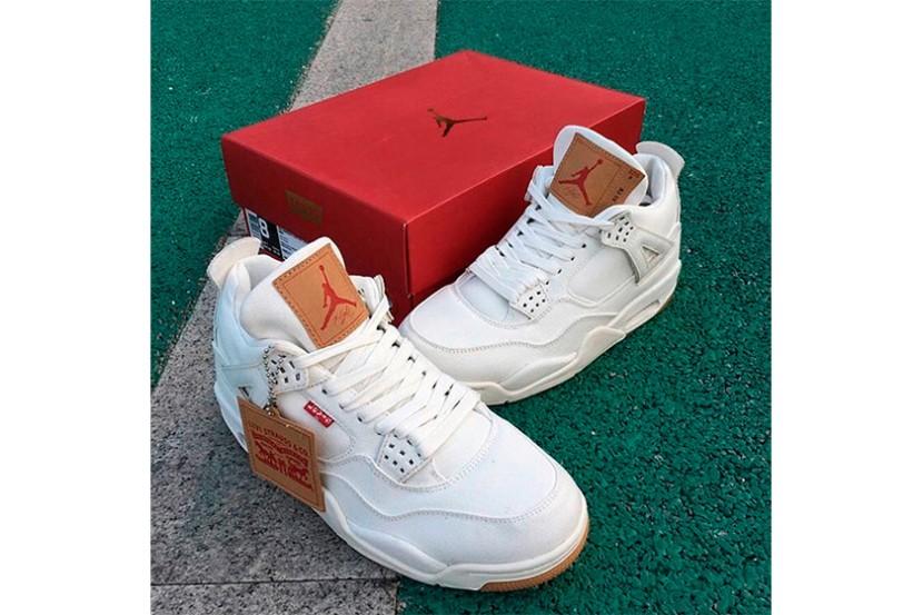 "First Look delle Air Jordan 4 x Levi's ""WhiteDenim"""