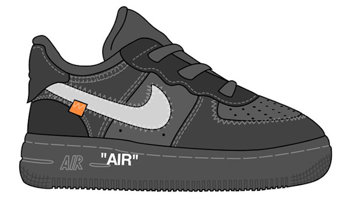 Off-White-Nike-Air-Force-1-Low-Black-Kids-Sizes