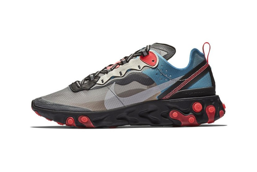 "NIKE REACT ELEMENT 87 ""BLUE CHILL/SOLAR RED"""